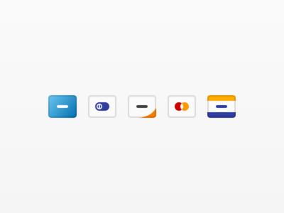flat credit cart icons