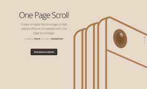 onepage scroll
