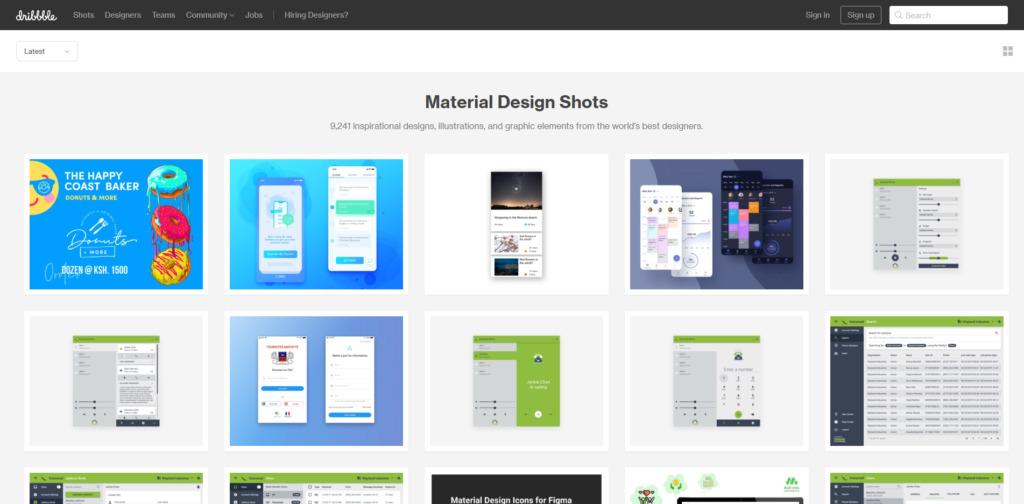 Dribbble: Material Design