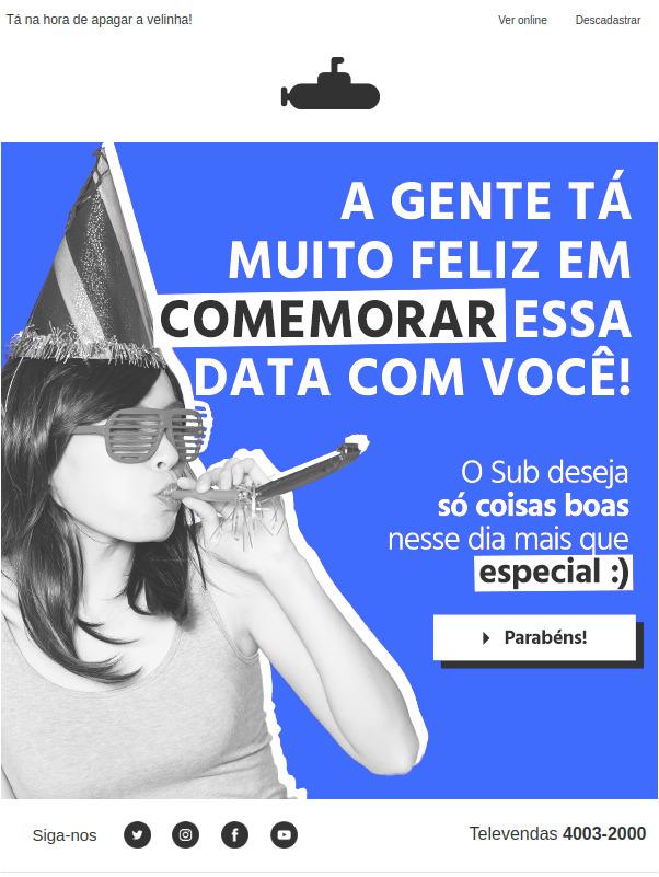Submarino Email Marketing Aniversário