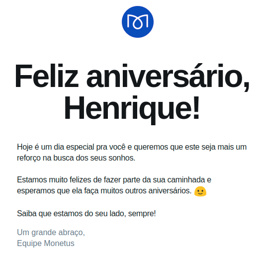 Aniversario de Monetus Email Marketing