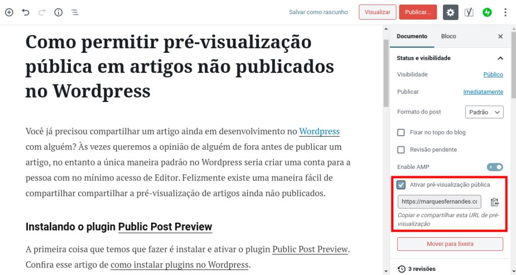 Como permitir a pré-visualização pública em artigos não publicados no WordPress - Imagem 1