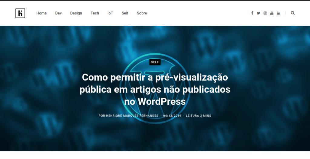 Como permitir a pré-visualização pública em artigos não publicados no WordPress - Imagem 2