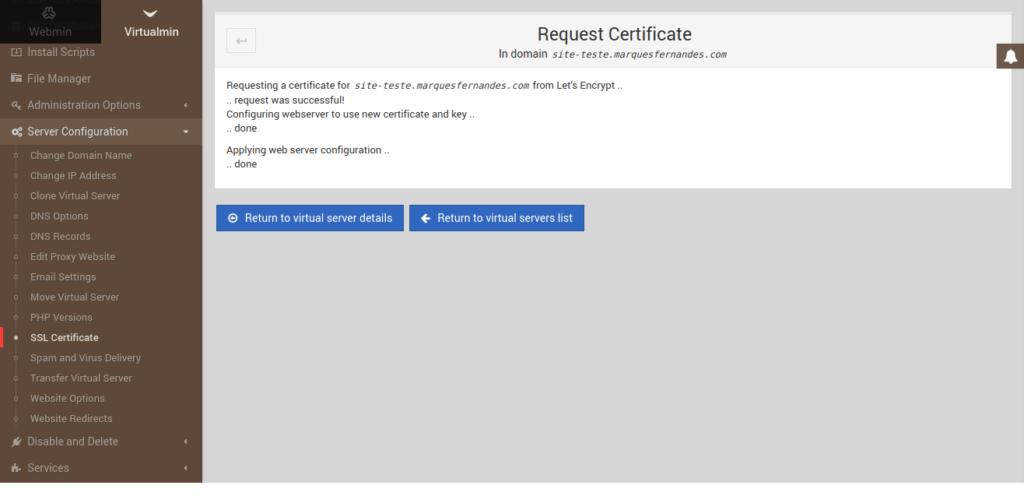 Generación de un certificado SSL válido - Parte 2