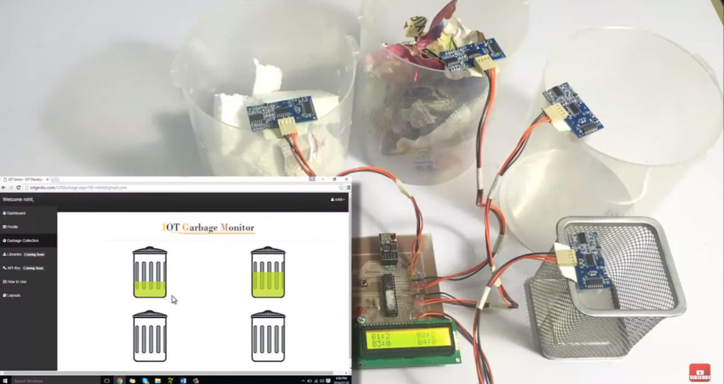 4. Monitoramento de Nível da Lixeira - Arduíno
