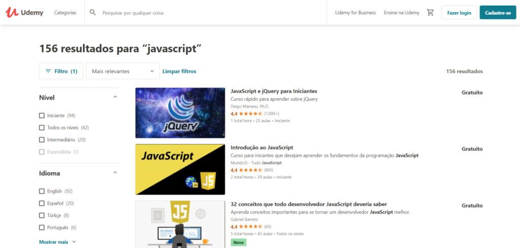 Udemy - Cursos de JavaScript Gratuitos