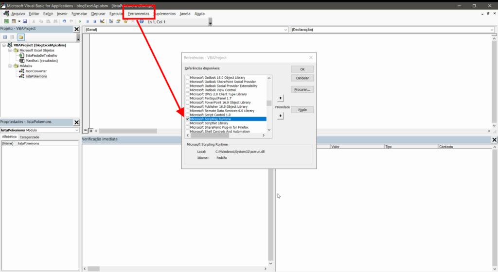 Excel API Rest Microsoft Scripting Runtime