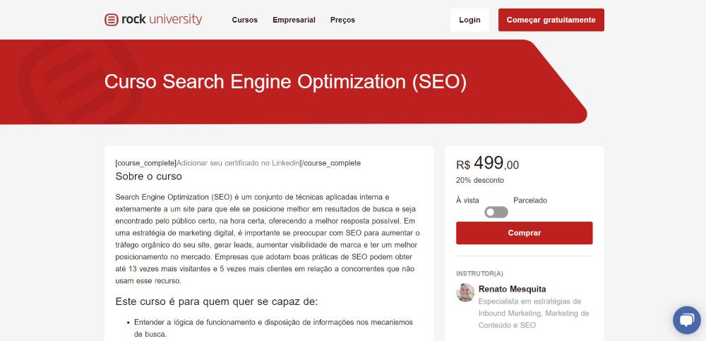 Curso Search Engine Optimization (SEO)