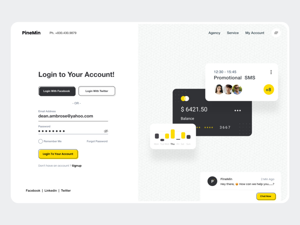 Login UI by DStudio™